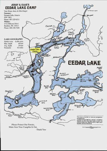 Cedar Lake Map Places To Visit Pinterest Lakes And Fishing Maps - Ontario fishing lakes maps
