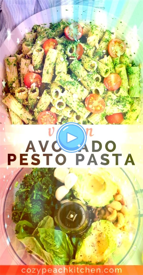 avocado pesto pasta is a quick and easy way to get in your greens Made in less than 15 minutes this flavorful recipe is packed with nutrients from avocado and spinachVega...