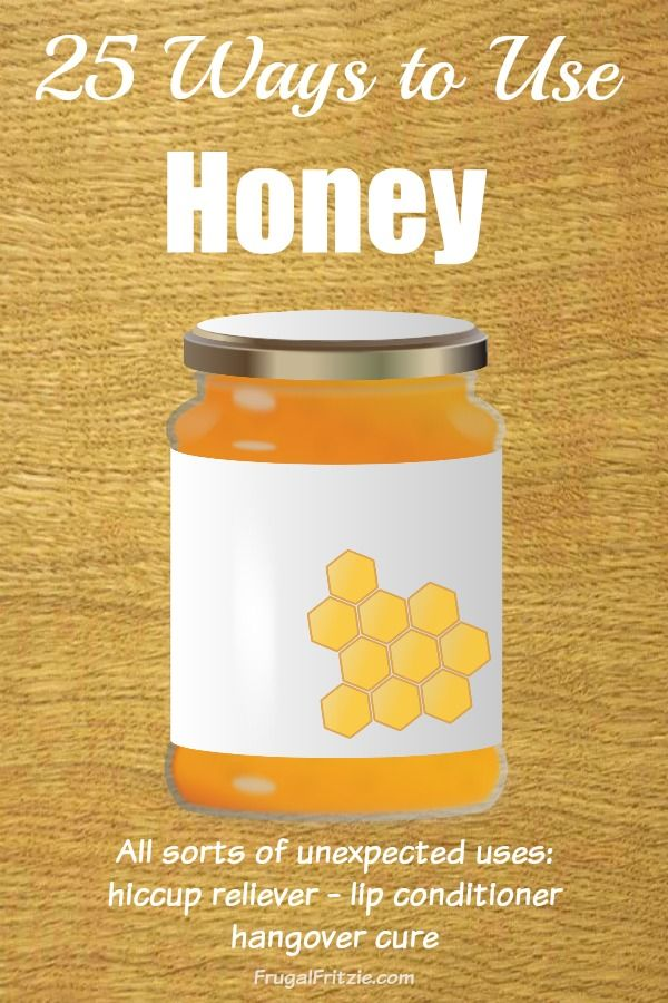 A handy list of 25 Ways to use Honey (via Frugal Fritzie).