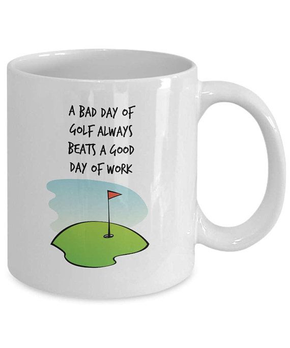 Fathers Day golf gift Golf humor gifts Dad birthday gift Golf gifts for men Mugs with sayings Funny