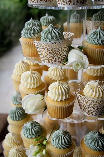 Astounding Cute Next To Cake Wedding Cakes With Cupcakes Fancy Cupcakes Funny Birthday Cards Online Overcheapnameinfo