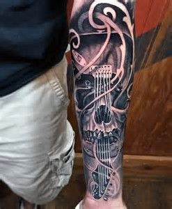 Image Result For Tattoos With Guitars Skulls Music Love Tatoo