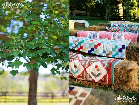hay bales and quilts...would could work better?