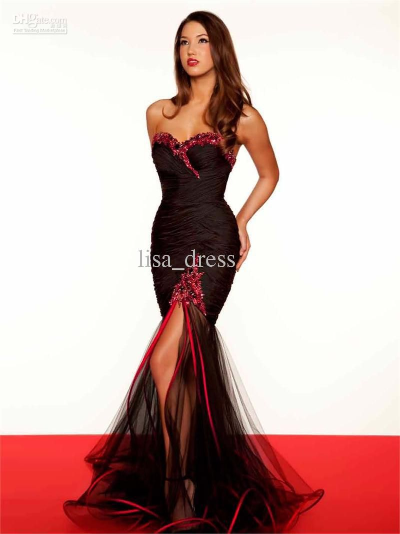 Wholesale Sexy Mermaid Black Evening dress | Evening Gowns ...
