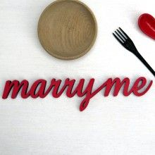 """individuelles Hochzeitsgeschenk """"marry me"""" Holz Deko Schrift Wort Spruch 3D"""