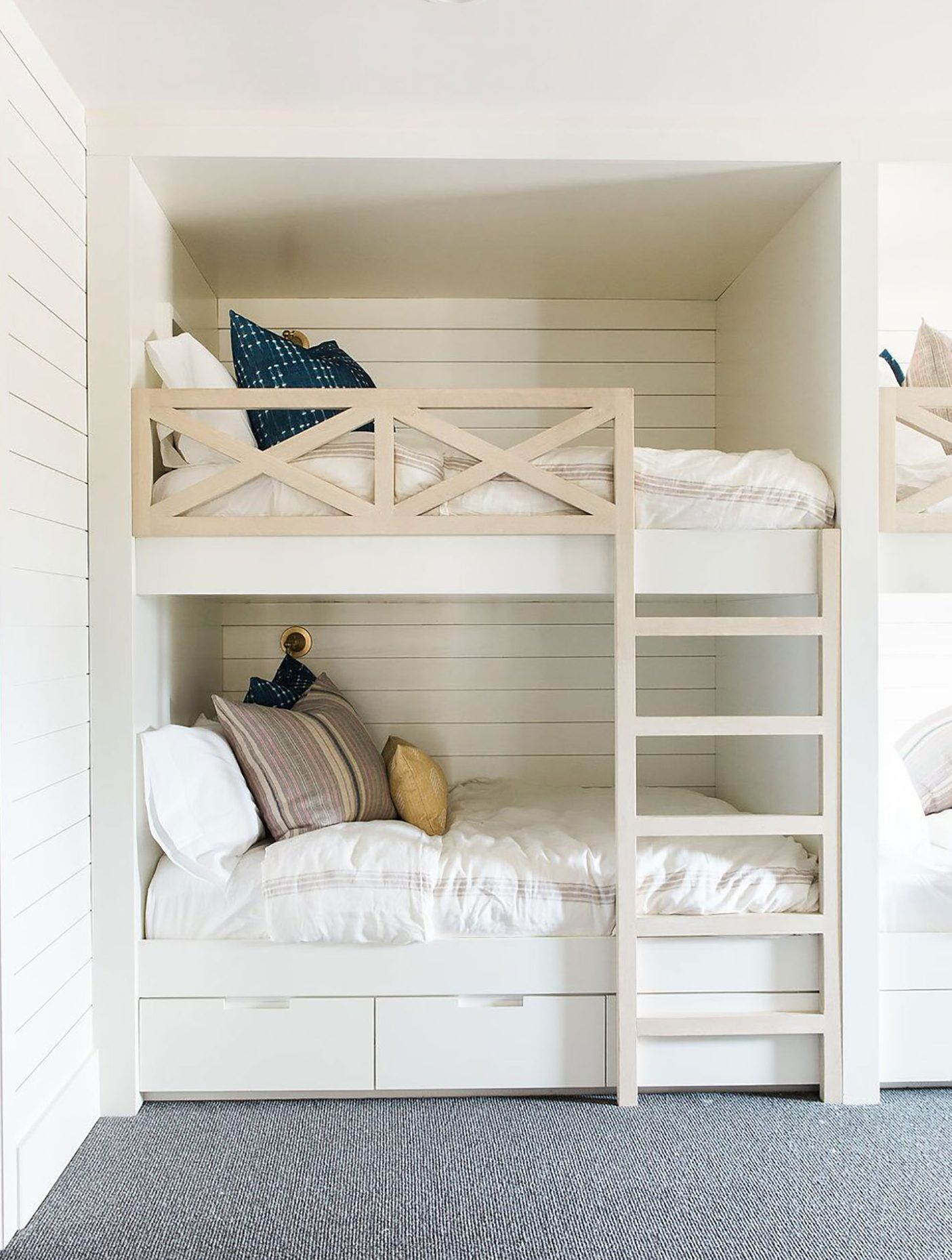 How We Made Built In Bunk Beds At The Beach House Cool Bunk Beds Bunk Bed Rooms Bunk Beds Built In