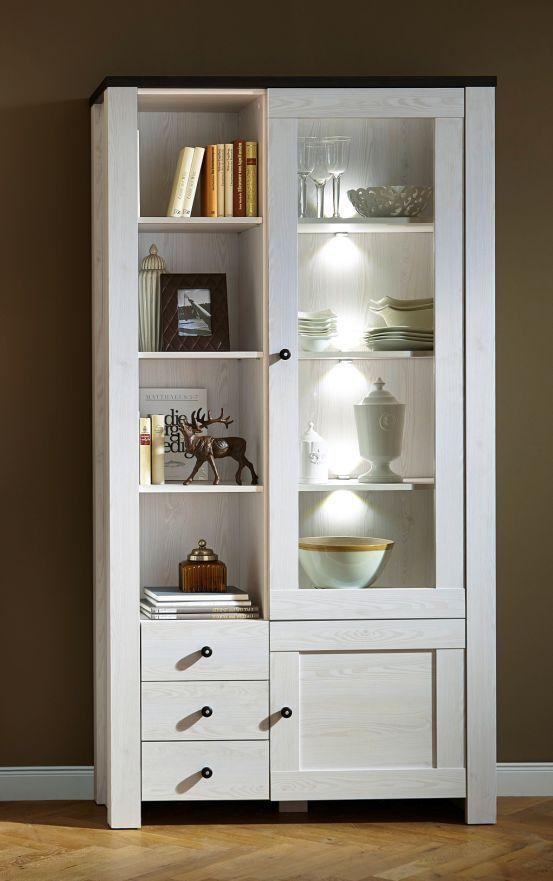 ADORA Vitrine Lärche Pinie dunkel new livingroom Pinterest - wohnzimmer ideen dunkel