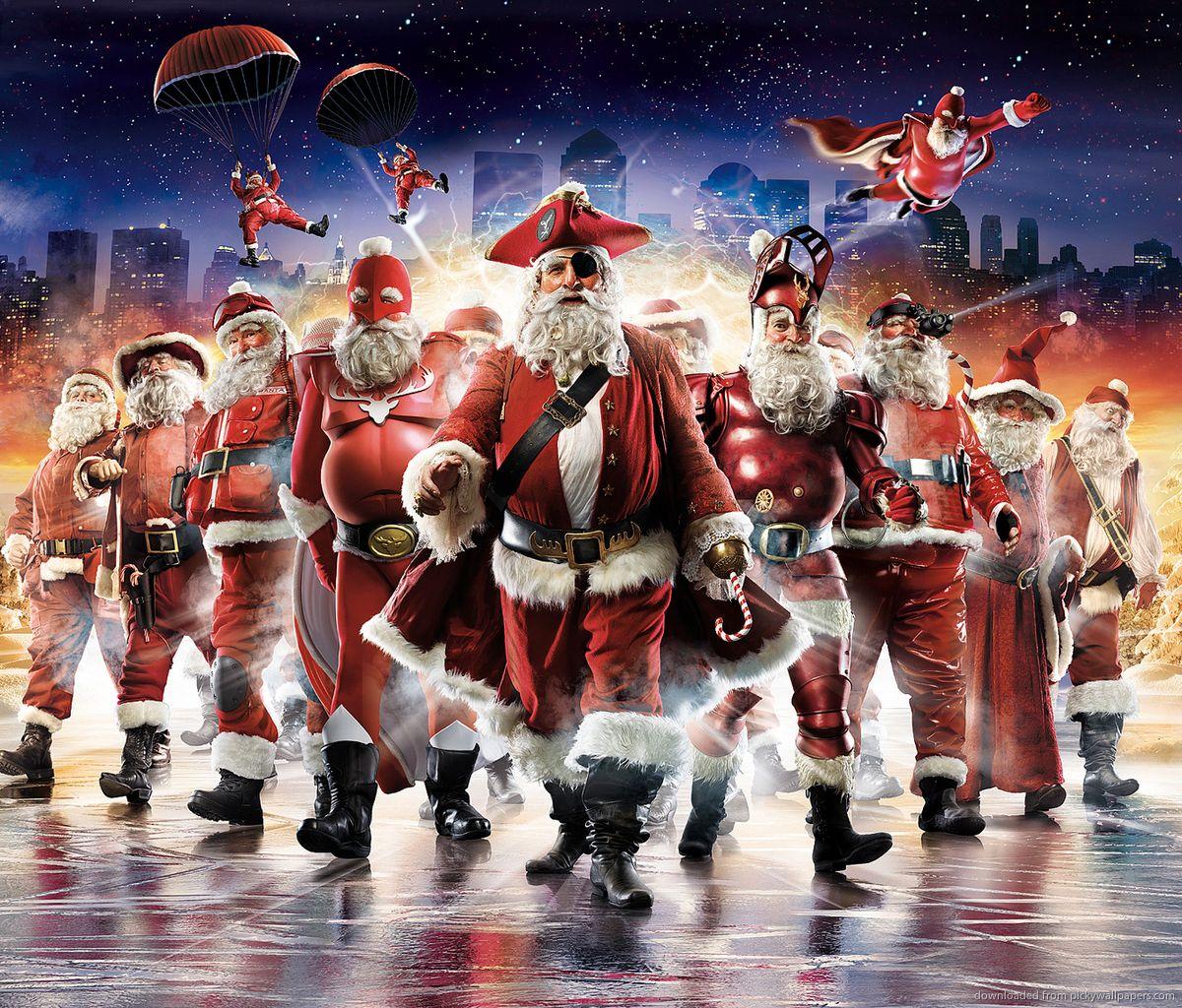 Superhero Santa Santa claus wallpaper, Merry christmas