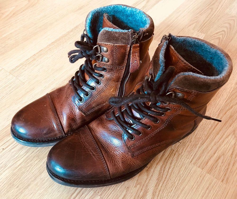 Vintage Lederschuhe im hellen Braun Ton aus zweiter Hand