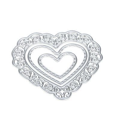 Happy Home Flower Heart Metal Cutting Dies Stencils DIY Scrapbooking Album Paper Card Craft 1 Piece