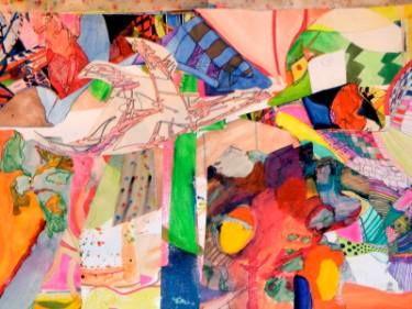 "Saatchi Art Artist robert j kaczmarek; Collage, ""WINTER IN HANA MAUI"" #art"