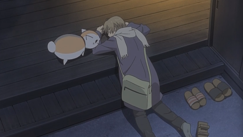 S04E07: Natsume is saved by Tanuma and the two escape from the banquet hall with the help of Natori, finally arrives back home.