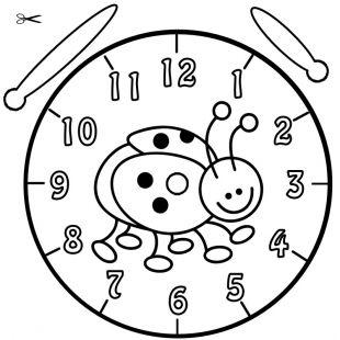 Uhrzeit Lernen Die Uhr Lernen Ausmalbild Marienkäfer Zum Ausmalen