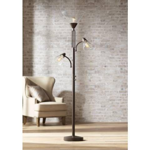 Warwick Tree Torchiere Floor Lamp With Edison Bulbs