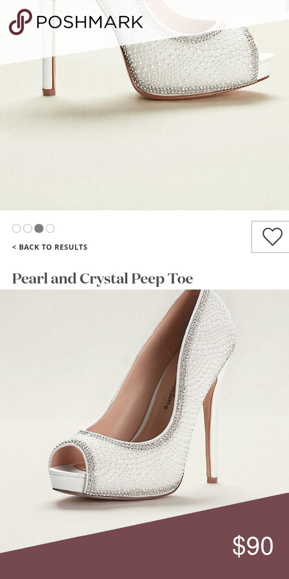 3e390c87d3c4 Heels from Davids Bridal paid  100 for them Never worn. Pearls ...