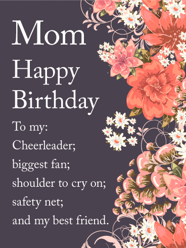 Mom Happy Birthday To My Cheerleader Biggest Fan Shoulder Cry On Safety Net And Best Friend