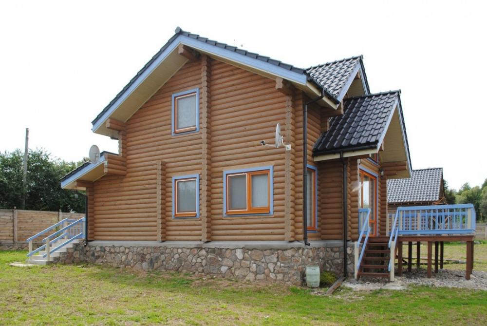 Holzhäuser Holzhaus Rundbohlen Leimholz Gebäude