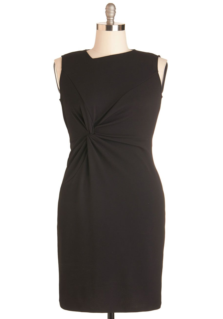 Sassy to See Dress in Black. With one look at this flirty black sheath, you know it fits the bill for your stylish plans! #black #modcloth