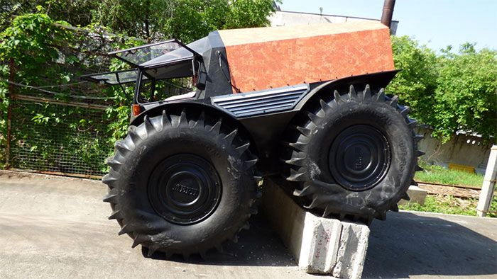 Sherp Atv Has Massive Tires That Float Geeky Gadgets Amphibious Vehicle Monster Trucks Bug Out Vehicle