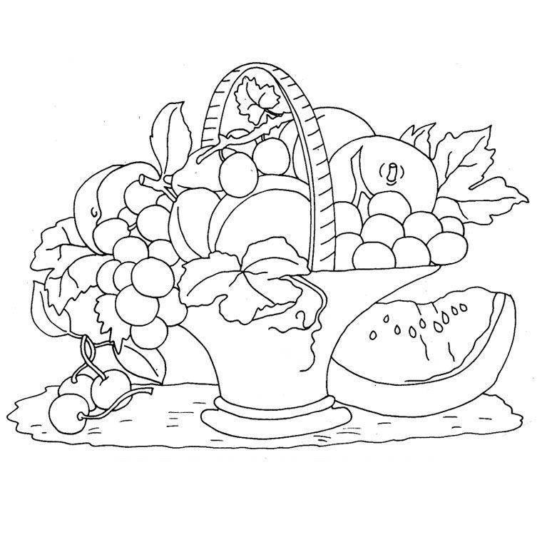 Le Coloriage Fruits De L Automne Pour Imprimer Le Coloriage Fruits