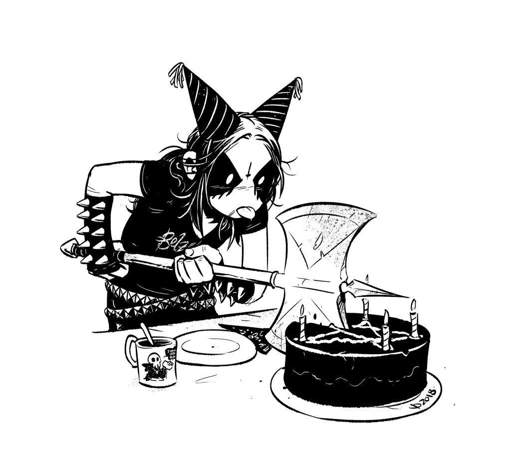 Belzebubs Happy Birthday Gothic Black Metal Art Dark Comics