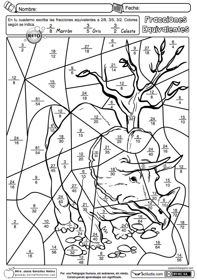 Fracciones Equivalentes 02 Fracciones Matematicas