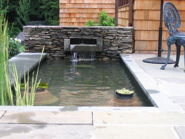 Attractive Patio Designs | Land Design Installation Landscape Management Residential  Land Design ... Koi Pond ...
