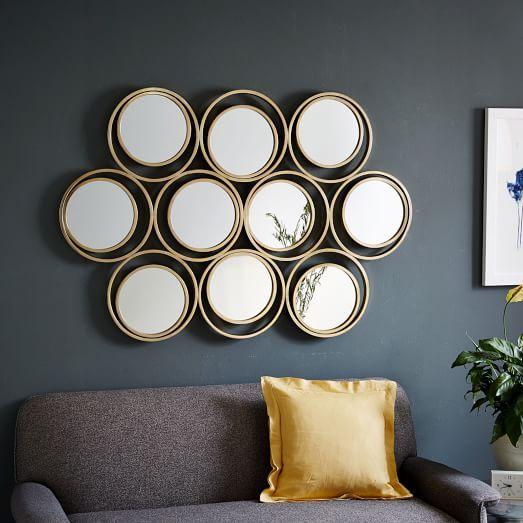 Multi Circle Mirror West Elm, Mirrored Circles Wall Decor