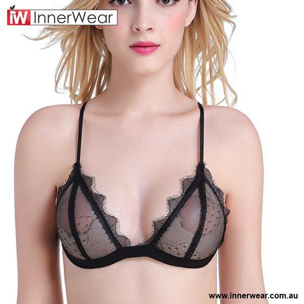 Sexy Transparent Lace Bra Breathable Women Summer Underwear Brassier 92e1dd193