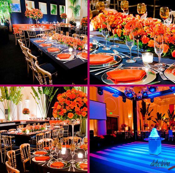 Orange Wedding Themes, Blue