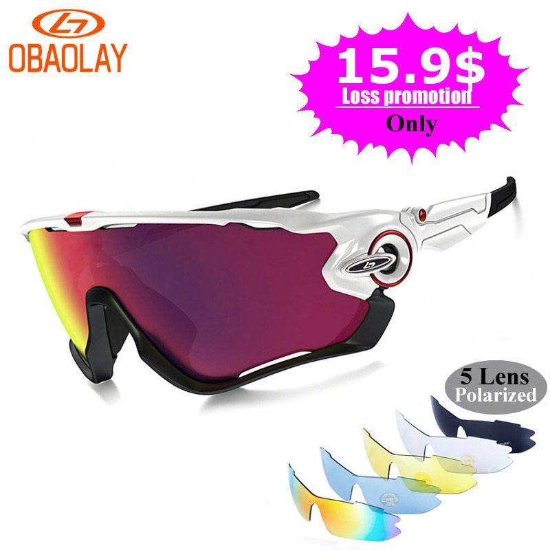 539aaebbcf Gafas de sol polarizadas de marca OBAOLAY para ciclismo