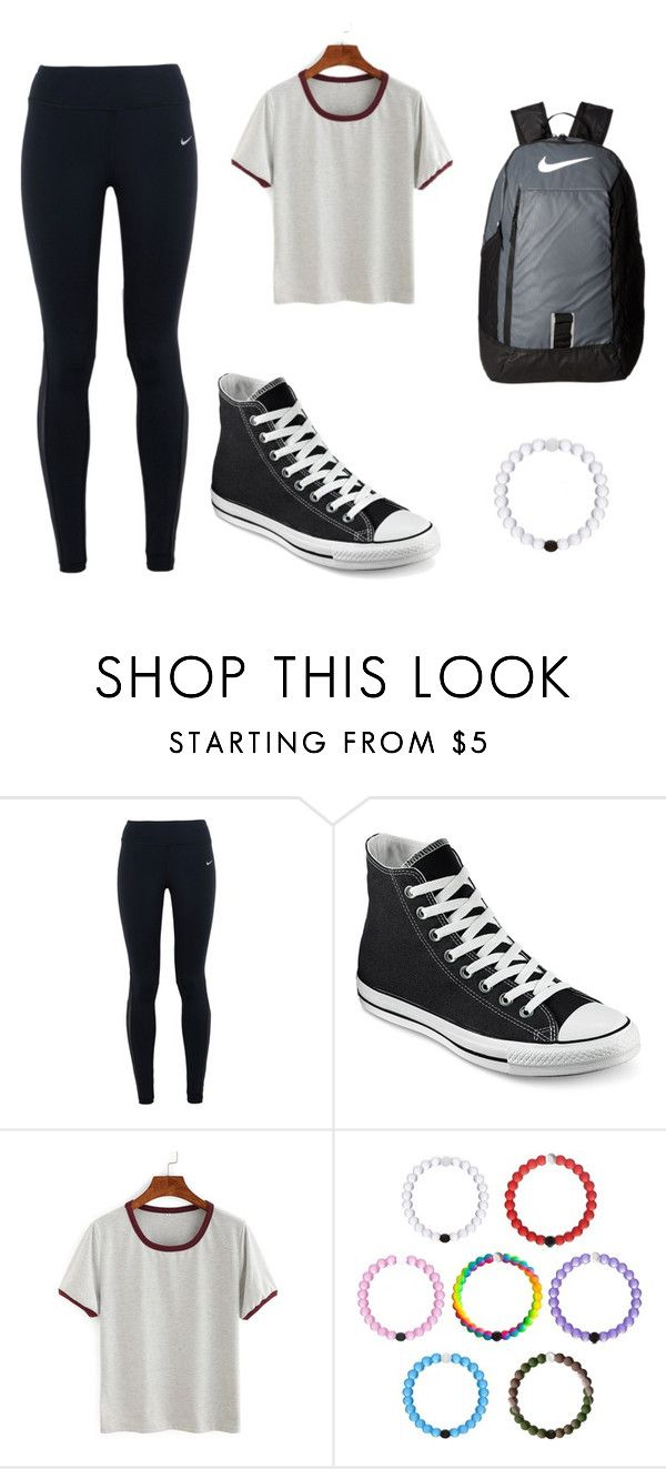 School by kmmzki on polyvore featuring nike and converse fashion