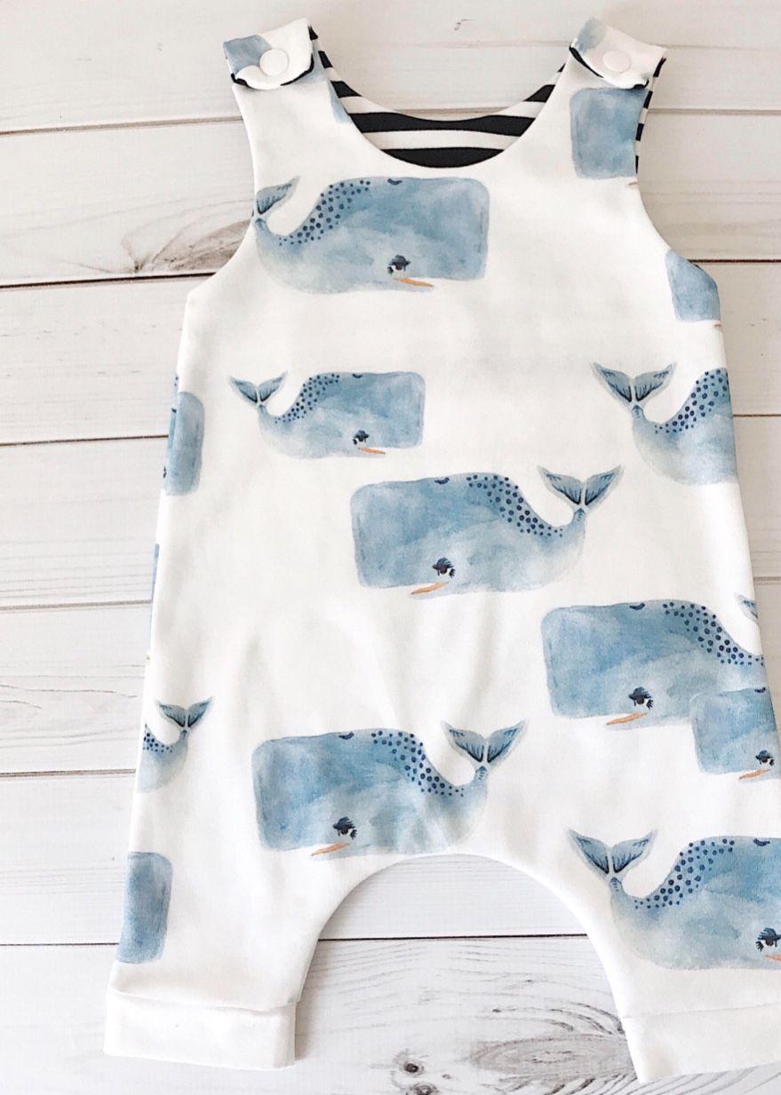 ebe224fcb Handmade Unisex Whale Print Romper
