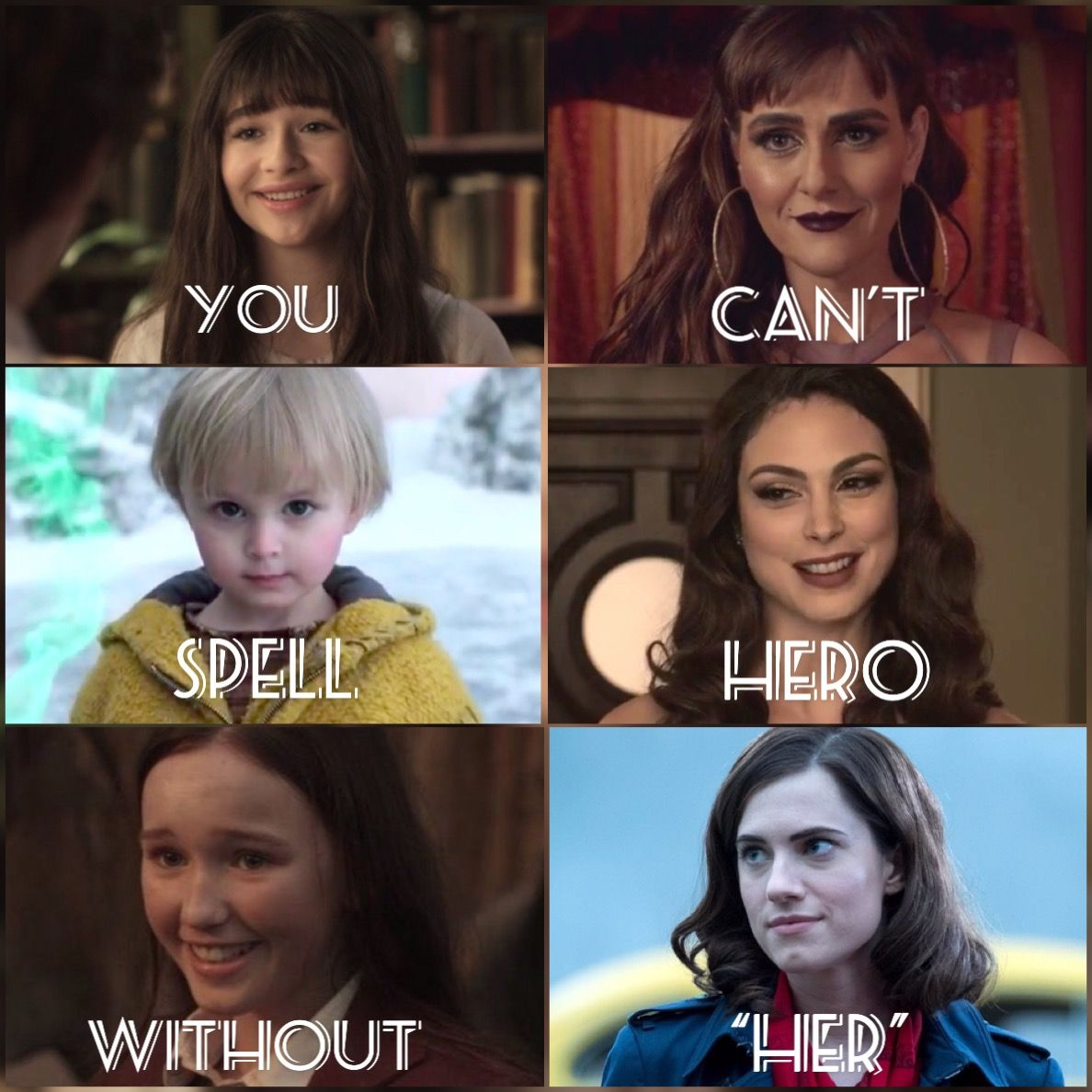 "You can't spell hero without ""her"" // A Series Of U… in"