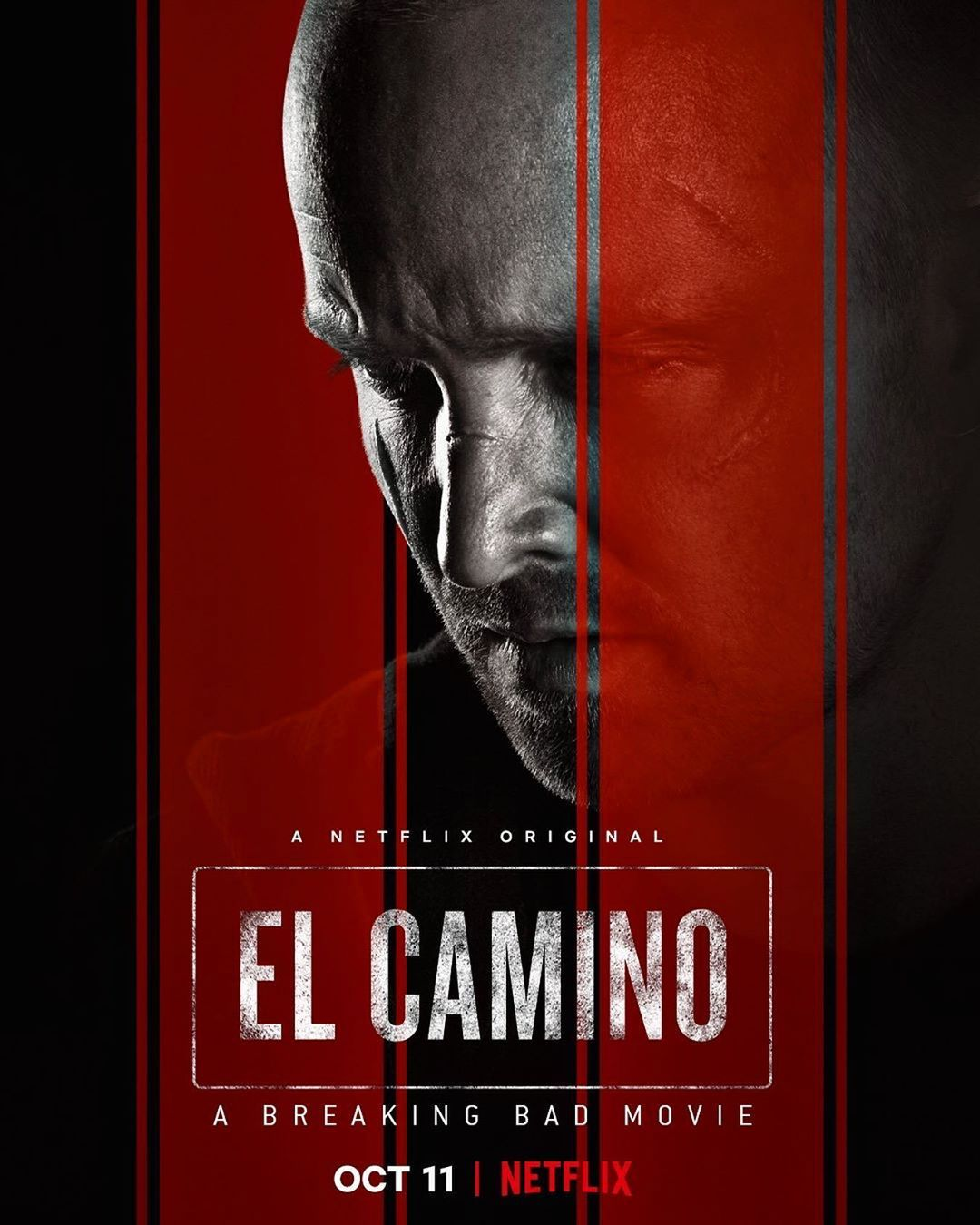 Jesse Pinkman Is On The Run In The First Elcamino A Breaking Bad Movie Poster Breaking Bad Movie Breaking Bad El Camino