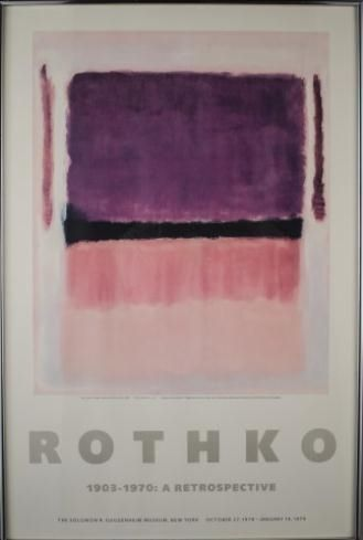 mark rothko exhibition poster