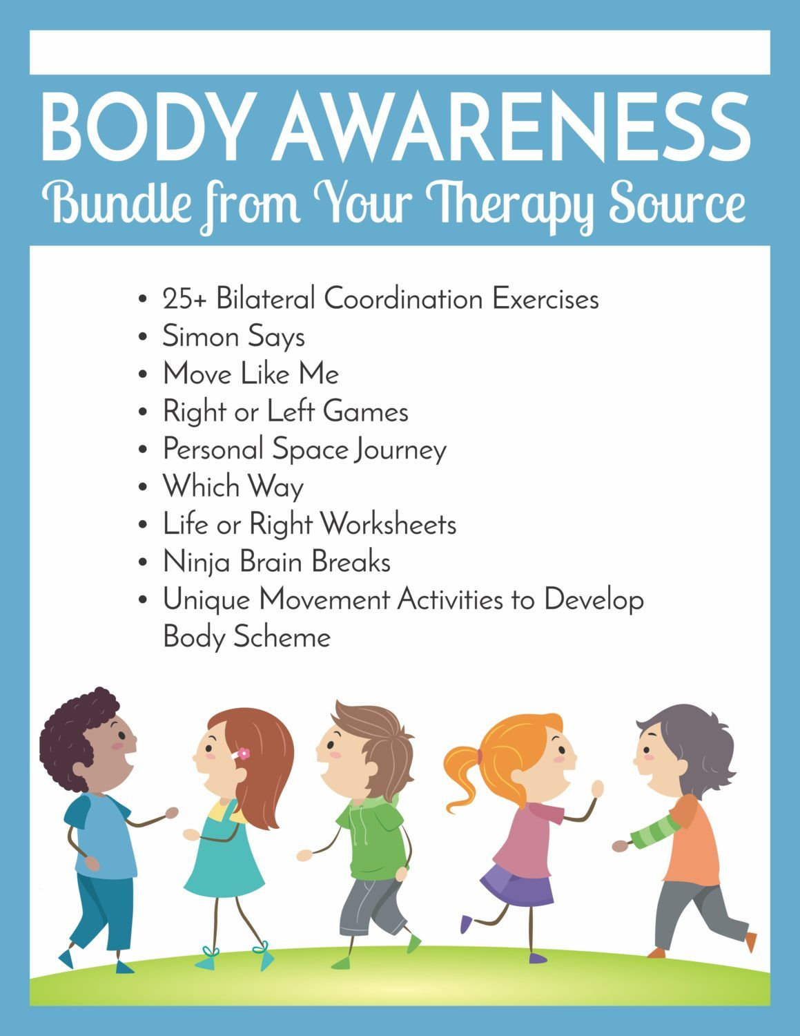 Body Awareness Bundle From Your Therapy Source Your Therapy Source Body Awareness Activities Body Awareness Therapy Activities [ 1500 x 1159 Pixel ]