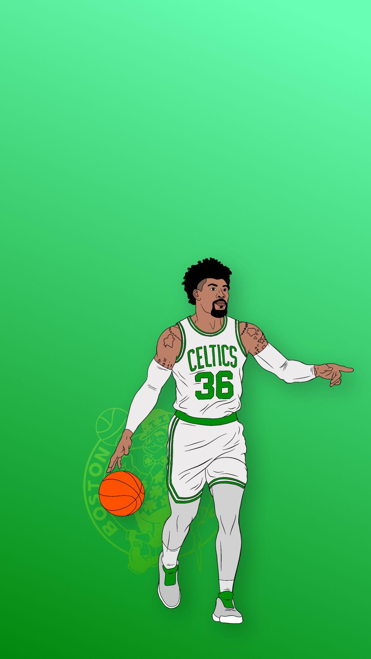 Marcus Smart Boston Celtics Phone Background In 2021 Marcus Smart Boston Celtics Wallpaper Boston Celtics