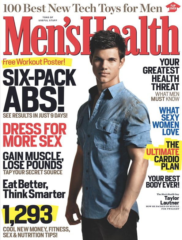 December 2009 Cover guy Taylor Lautner Funny health