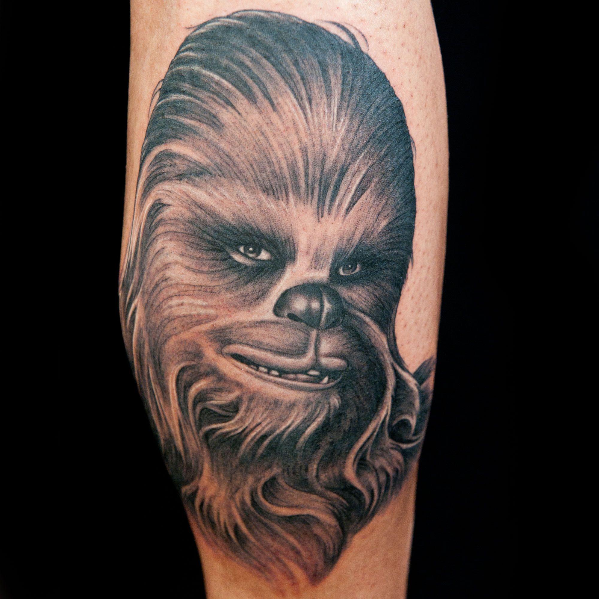 30 Chewbacca Tattoo Designs For Men – Star Wars Ink Ideas foto