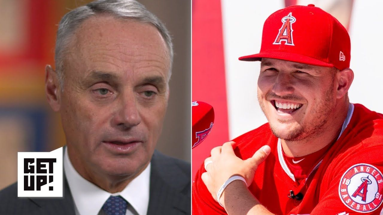Mlb Commissioner Rob Manfred Talks Harper Trout Deals Sports Gambling And Tanking Get Up With Images Sports