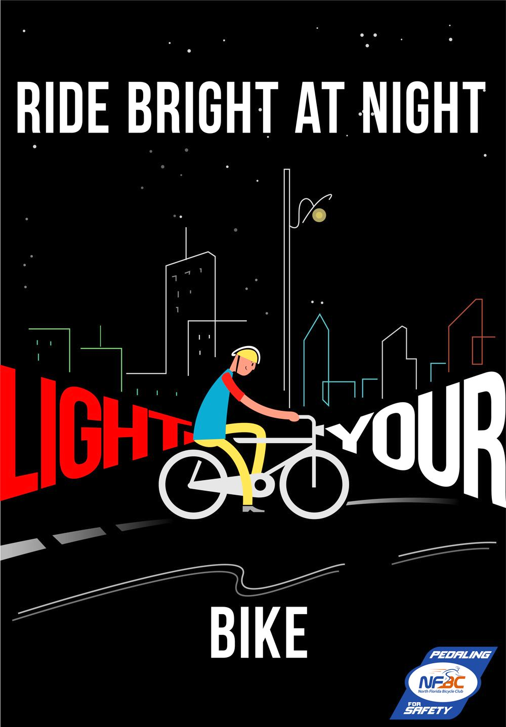Be seen, BE SAFE. Avoid accidents by lighting your bike