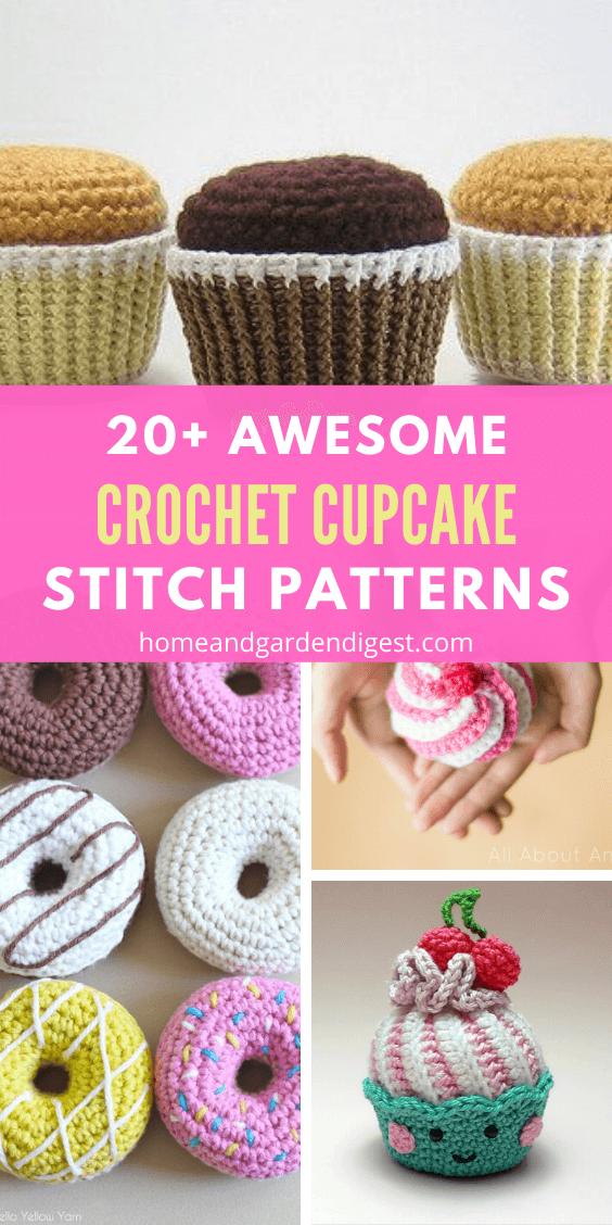 20+ Best DIY Crochet Cupcake Stitch Free Patterns