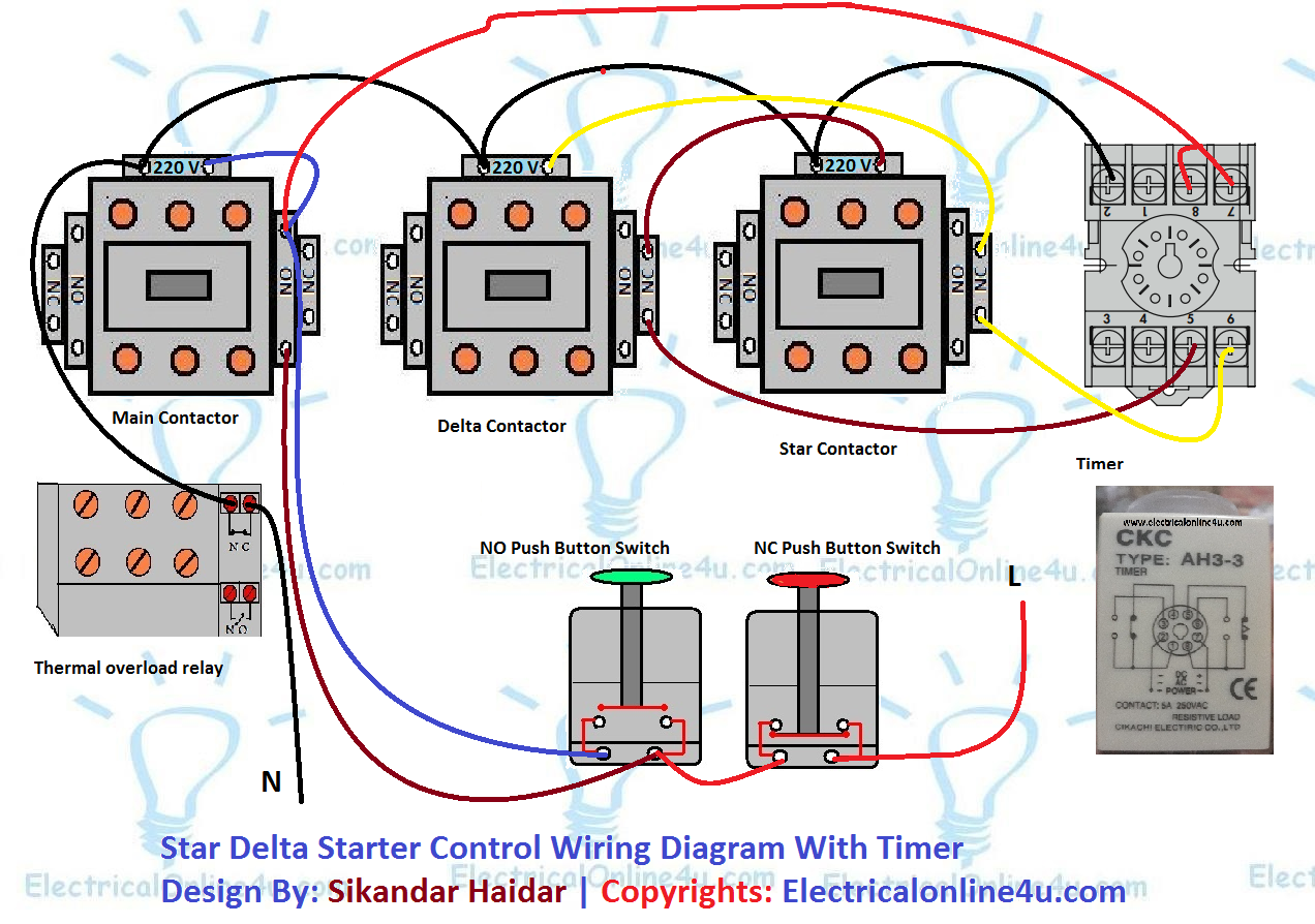[FPER_4992]  Star Delta Starter Wiring Diagram 3 phase With Timer | Electrical circuit  diagram, Circuit diagram, Diagram | Delta 3 Phase Panel Wiring Diagram |  | Pinterest