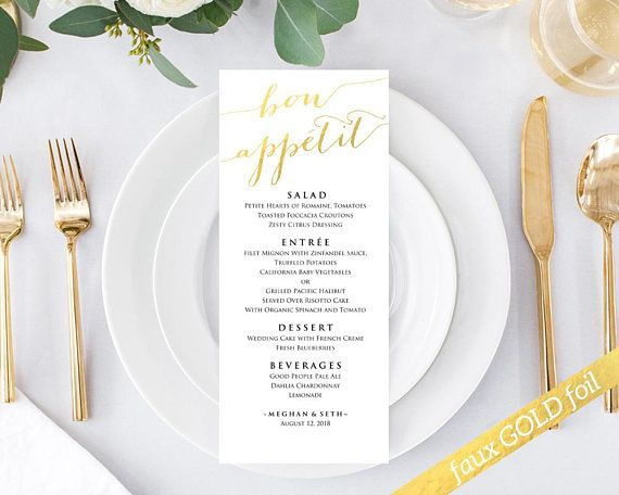 Bon Appetit Menu Templates Instantly Download Edit And Print