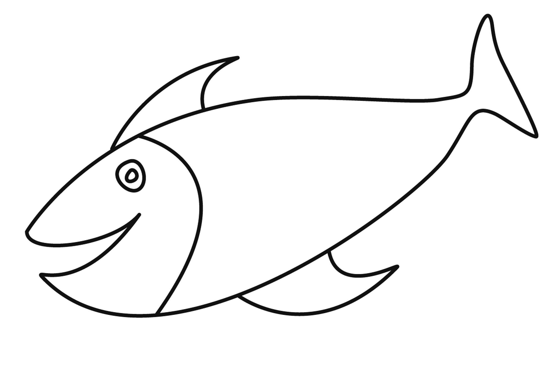 Malvorlagen Einfach in 7  Malvorlagen, Malvorlage fisch, Fisch