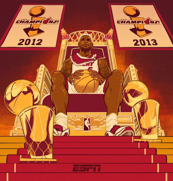 LeBron James 'Reign of a King' Illustration Lebron james