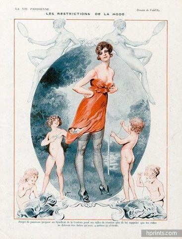 Vald'Es 1918 ''Les restrictions de la Mode'' Sexy looking girl