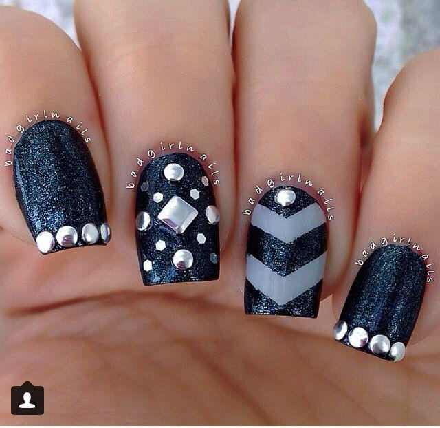 Pin By Destinee Trevino On Nail Designs 2 Studded Nails Cute Nail Art Nail Art Designs