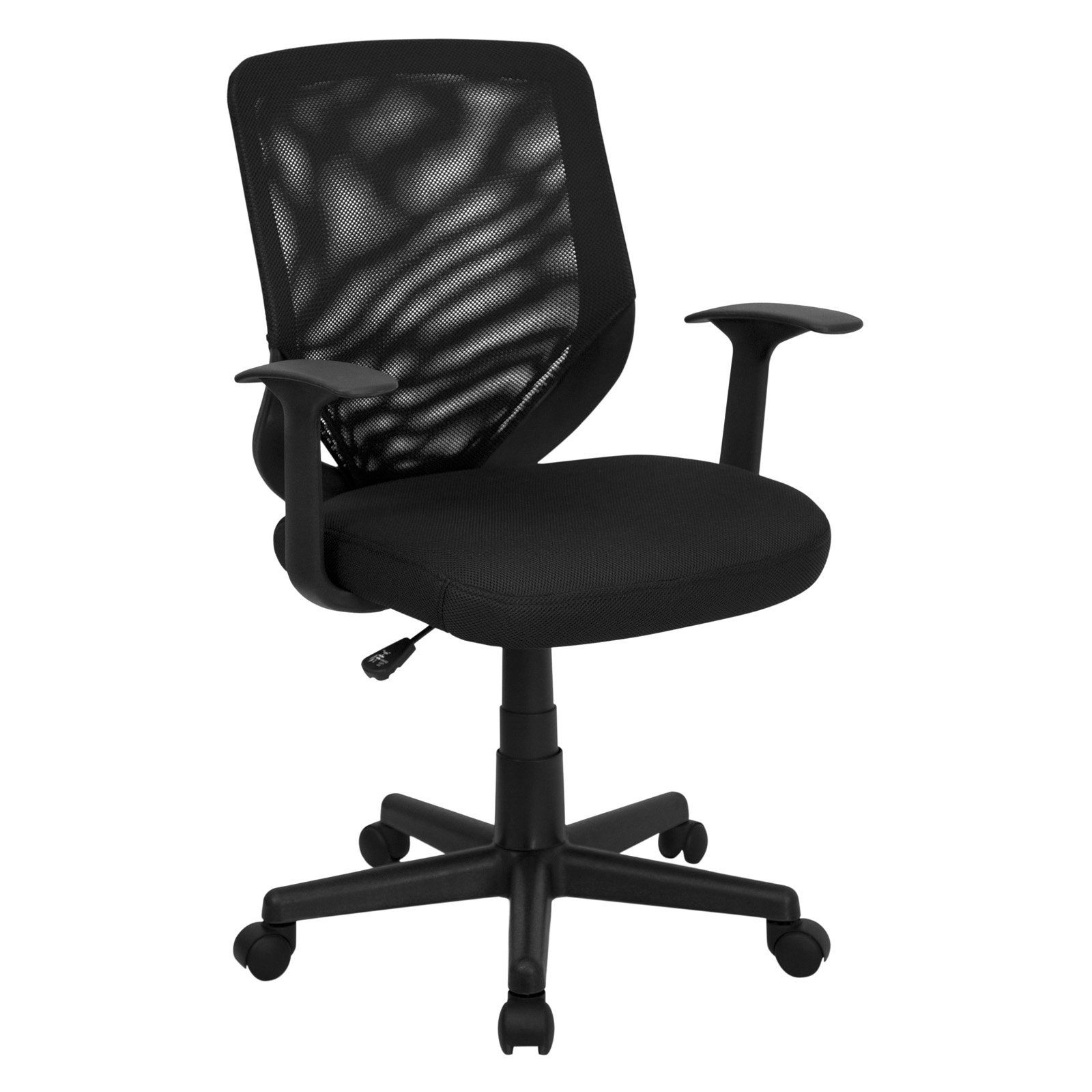 flash furniture howard mid back office chair with mesh fabric seat rh pinterest com